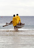 Traditional fisherman setting out Royalty Free Stock Image