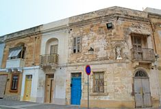 Malta, Marsaxlokk: Traditional fishermen village houses Royalty Free Stock Images