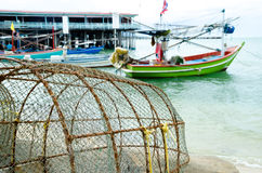 Traditional of fishery 9. Traditional of fishery and fishingboat equipment Stock Photography