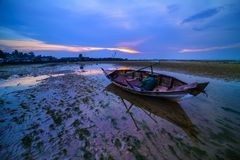 Traditional Fishing Boat Batam island Indonesia. Traditional Fishing Boat Batam island kepulauan Riau Indonesia asia Royalty Free Stock Photography