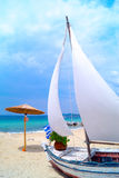 Traditional fishing boat at Chalkidiki Stock Images