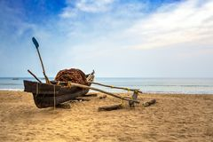Traditional fishing boat stock photo