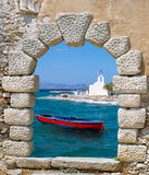 Traditional fishing boat, Greece Stock Photos