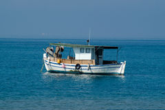 Traditional fishing boat in Greece Stock Images