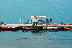 Traditional fishing boat in Greece Stock Photos