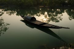 Traditional fishing boat in India Royalty Free Stock Photo