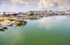 Traditional fishing boat park Stock Photo