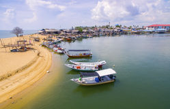 Traditional fishing boat park Stock Image