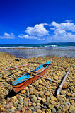Old Wooden Boat. Traditional Fishing boat in the Philippines royalty free stock images
