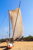 Traditional fishing boat Sri Lanka Stock Image