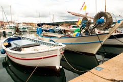 Traditional fishing boats. In the harbor of St.Tropez Royalty Free Stock Images