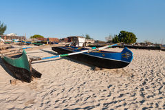 Traditional fishing boats. In southern Madagascar Stock Photo