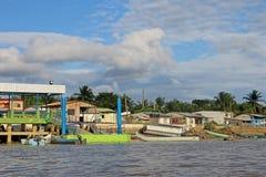 Free Traditional Fishing Boats And Houses, Cayapas River, Esmeraldas Province, Ecuador Stock Photo - 103670850