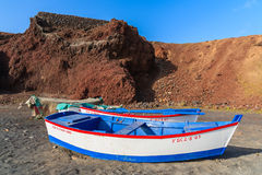 Traditional fishing boats on beach Stock Photos