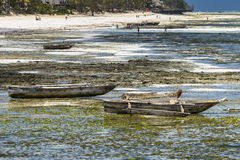 Traditional fishing boats on beach Stock Images