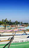 Traditional fishing boats on dili beach in east timor Royalty Free Stock Photography