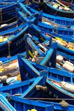 Traditional Fishing Boats in Essaouria, Morocco. Royalty Free Stock Photo