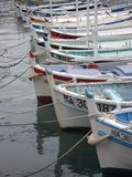 Traditional fishing boats in the harbor of Cassis in the South of France Stock Photography