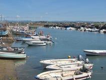 Free Traditional Fishing Boats In Fuseta, Algarve - Portugal Stock Image - 215812791