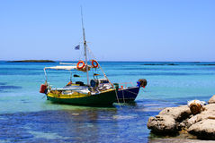 Traditional fishing boats at the lagoon Royalty Free Stock Image
