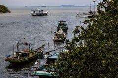 Traditional fishing boats, November 2014. Asian fishing boats ready to sail at noon Royalty Free Stock Photos