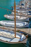 Traditional fishing boats in the port of Ciutadella, Menorca, Balearic islands Spain. Traditional fishing boats in the port of Ciutadella, Menorca, Balearic stock images