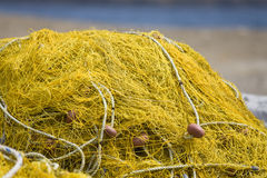 Traditional fishing net. Detail image of a traditional fishing net Stock Photos