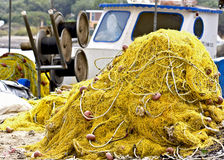 Traditional fishing net. Detail image of a traditional fishing net Stock Image