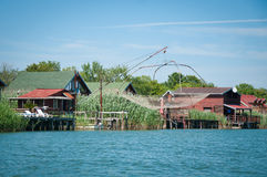 Traditional fishing village Stock Image