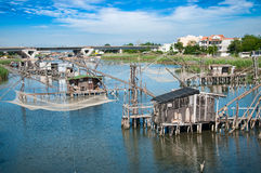 Traditional fishing village Royalty Free Stock Images