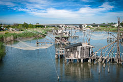 Traditional fishing village Royalty Free Stock Photo