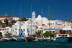 Traditional fishing village Adamas on Milos island Royalty Free Stock Photo