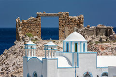 Traditional fishing village of Firopotamos at Milos island in Greece Royalty Free Stock Image