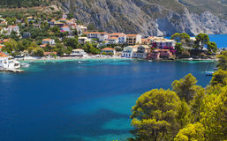 Traditional fishing village in Greece Stock Photography