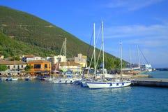 Traditional fishing village Greece Royalty Free Stock Photo