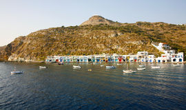 Traditional fishing village in Greece Royalty Free Stock Photography