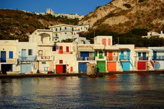 Traditional fishing village. Klima, Milos. Cyclades islands. Greece Stock Photography