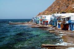 Traditional fishing village on Milos island Royalty Free Stock Photo