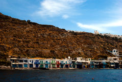 Traditional fishing village on Milos island Royalty Free Stock Images