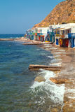 Traditional fishing village on Milos island Stock Image