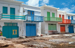 Traditional fishing village on Milos island Royalty Free Stock Image