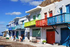 Traditional fishing village on Milos island, Greece Stock Photo