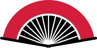Traditional flamenco fan. Sports vector vector Stock Images