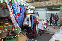 Traditional flea market at Brick Lane. Brick Lane flea market operates every Sunday. Royalty Free Stock Photography
