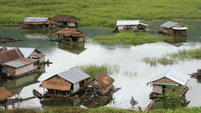 Traditional floating houses in Kanchanaburi Royalty Free Stock Photo