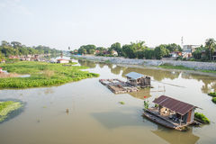 Traditional floating houses. In thailand Royalty Free Stock Photography