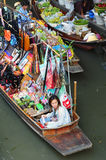 Traditional floating market in Bangkok Royalty Free Stock Photo