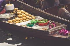 Traditional floating market in Bangkok, Thailand Stock Image