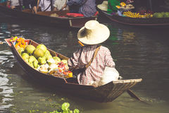 Traditional floating market in Bangkok, Thailand Stock Photography