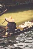 Traditional floating market in Bangkok, Thailand Royalty Free Stock Image